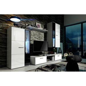 MEUBLE TV MURAL Meuble de salon, meuble TV complet METRO. Corps bl