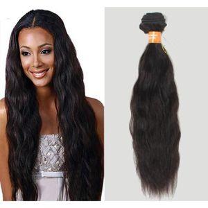 PERRUQUE - POSTICHE 1Pcs 16Inches Noir 50g/tissage Brésilien Cheveux O