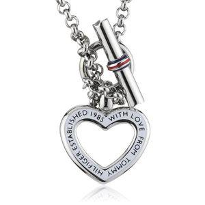 CHAINE DE COU SEULE Tommy Hilfiger Women's Stainless-steel Open Heart