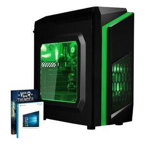 UNITÉ CENTRALE + ÉCRAN Vibox FX 34 PC Gamer Unité Centrale Vert (AMD A8,