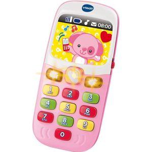 TABLE JOUET D'ACTIVITÉ VTECH BABY - Baby Smartphone Bilingue Rose - Jouet