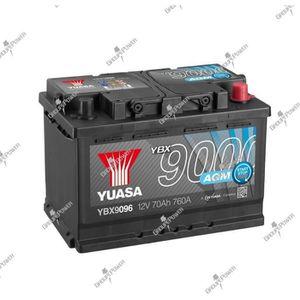 BATTERIE VÉHICULE Batterie auto, voiture, bateau YBX9096 12V 70Ah 76
