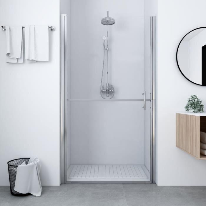 VAGUE Porte de douche Verre trempé 81x195 cm