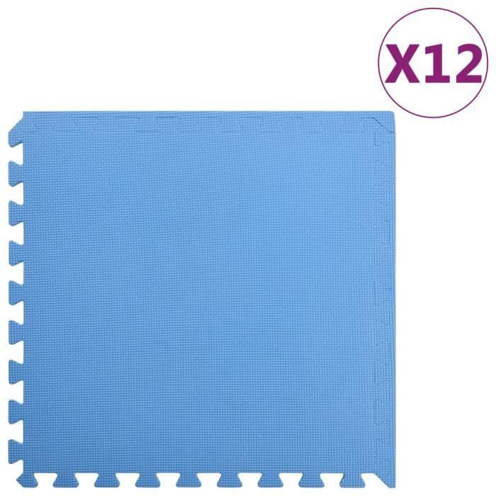 ZHIHU Tapis de sol 12 pcs 4,32㎡ Mousse EVA Bleu