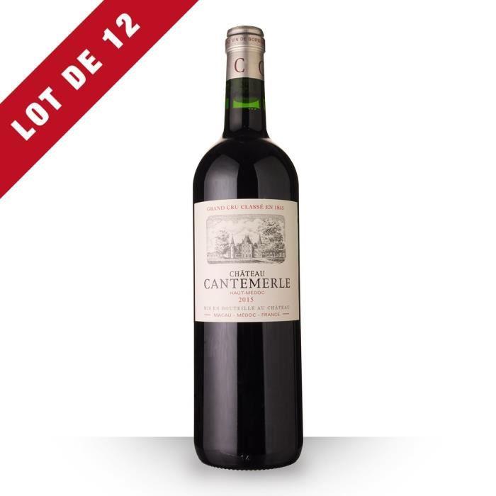 Lot de 12 - Château Cantemerle 2015 AOC Haut-Médoc - 12x75cl - Vin Rouge