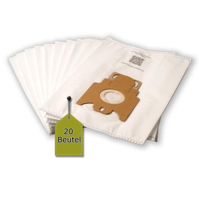 eVendix Sac d'aspirateur adapté pour Miele Classic C1 EcoLine - 20 sacs à poussière + 2 microfiltre - semblable au sac d'origine: