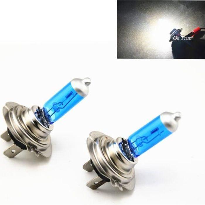 H7 100W -Ampoules H4-H1-H3-H7-H11-9005-9006 55W 100W 12V HOD Xenon blanc 6000k pour phares de voiture halogène, 2 pièces