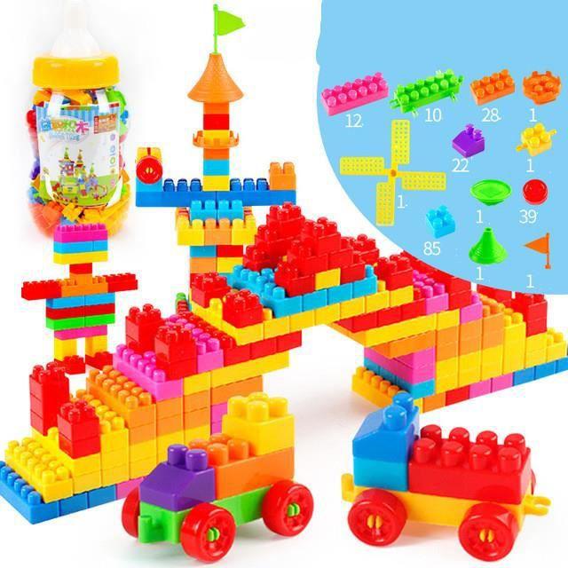 200 PCS Creative Jeu de Construction Intelligence Bloc de Construction Assemblage de Puzzle Jouet Educatif