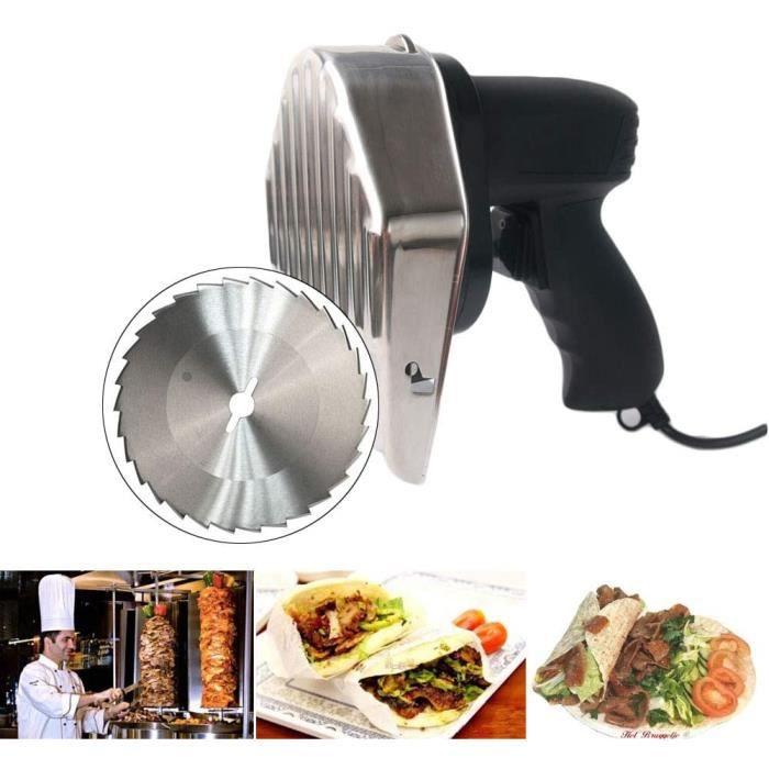 TRUSTME Machine Kebab Commercial Couteau à Kebab électrique 220V 50Hz Doner Couteau Kebab Slicer 3000RPM Pour kebab Machine