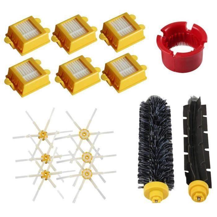 Jeux de brosses et brosse laterale a 6 bras et filtres a air Pour IRobot Roomba 600-700 series