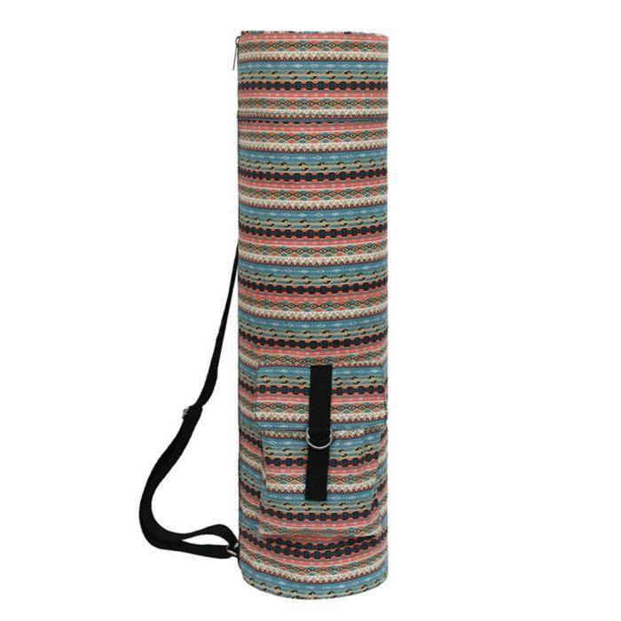 Tapis de yoga Sac de yoga écharpe porte-outil de remise en forme Sac cylindre ethnique style3