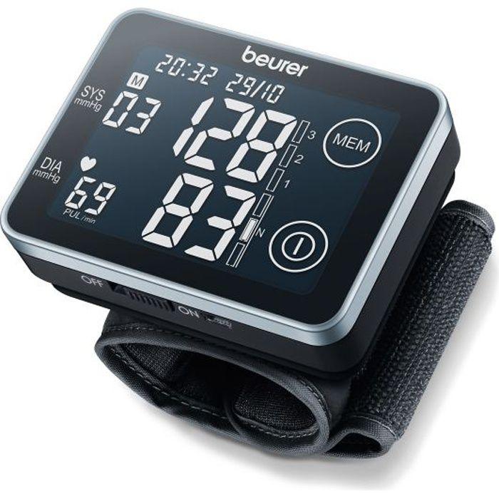 Tensiomètre de poignet BEURER BC 58 - 2 x 60 emplacements de mémoire - Tour de poignet de 14-19,5 cm