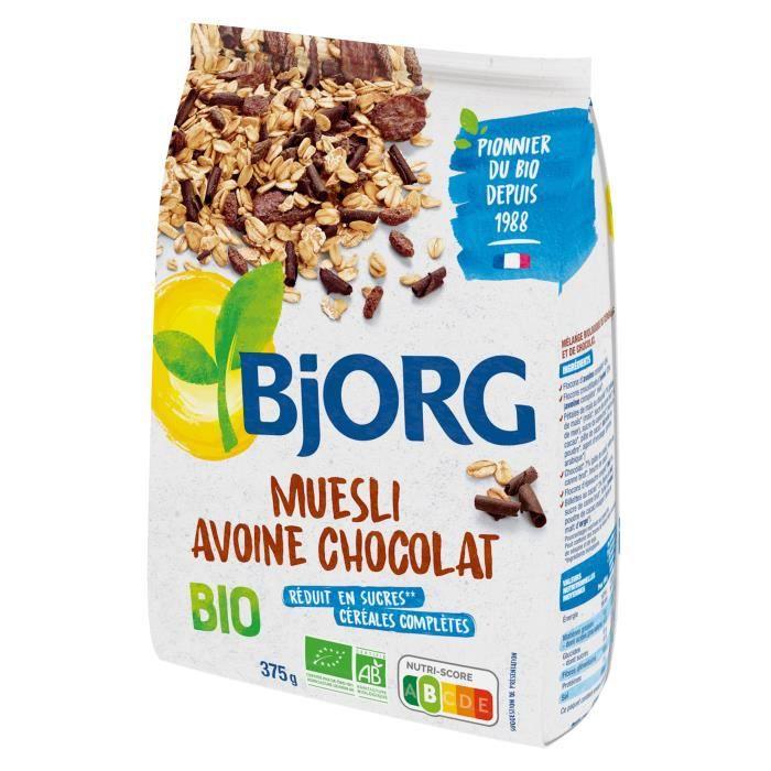 Muesli avoine chcolat bio 375 g Bjorg