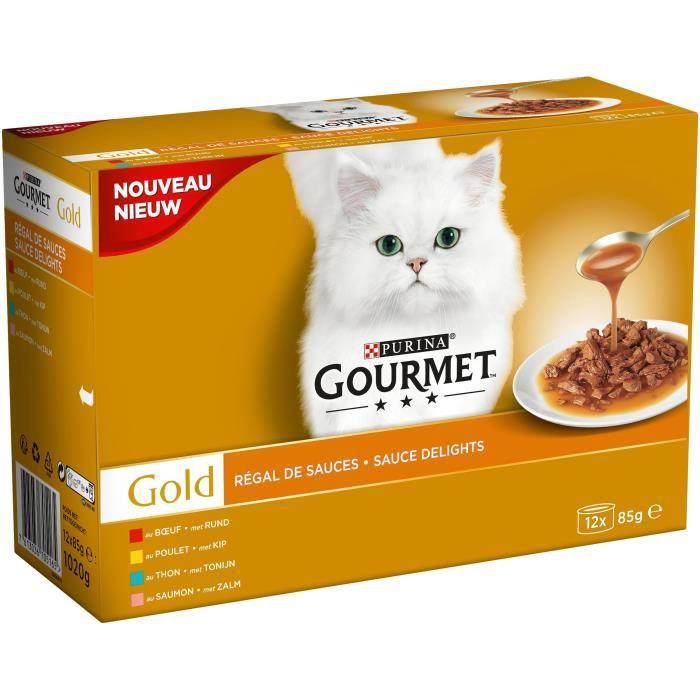 GOURMET Gold Pâtée Régal de Sauces - Pour chat adulte - 12 x 85 g