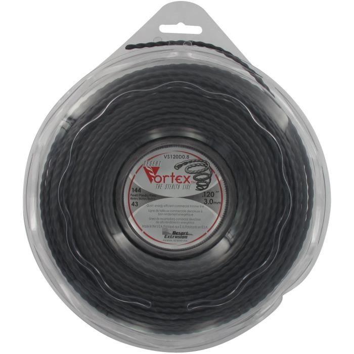 JARDIN PRATIC Coque fil nylon copolymère VORTEX - Longueur: 43m, Ø: 3,00mm