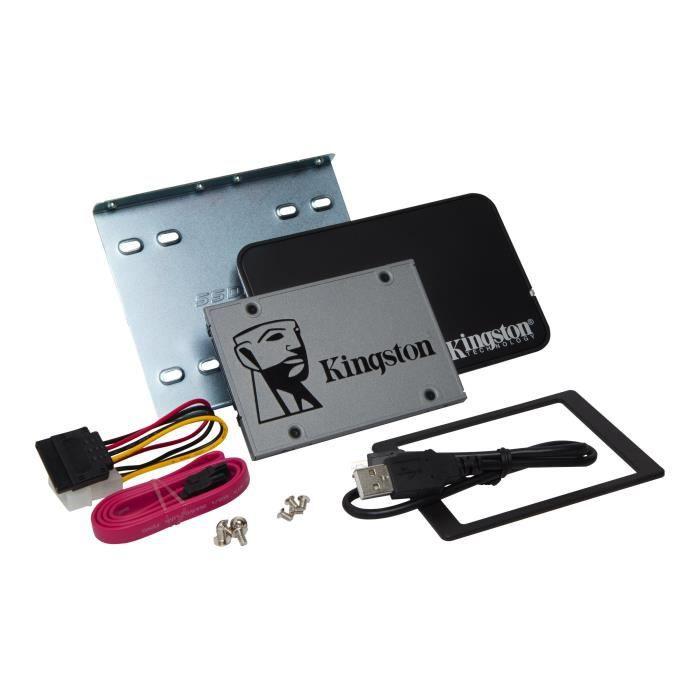 Kingston SSD Interne UV500 2.5- Kit d'upgrade pour ordinateur fixe/ portable (480Go) - SUV500B/480G