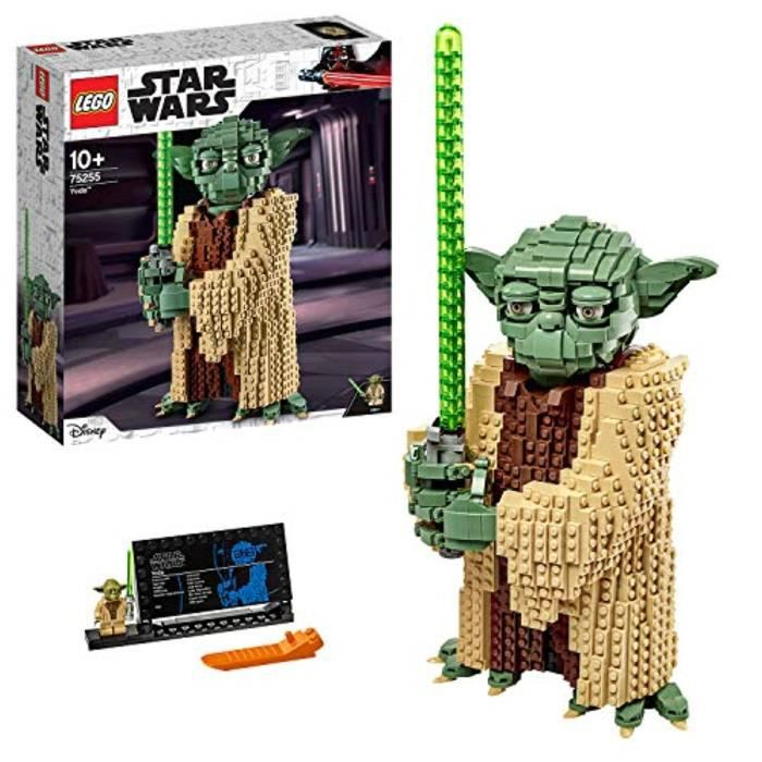 Jeu D'Assemblage JHRXJ 75255 Star Wars Yoda Construction Set, Collectable Model with Display Stand, The Attack of the Clones Collect