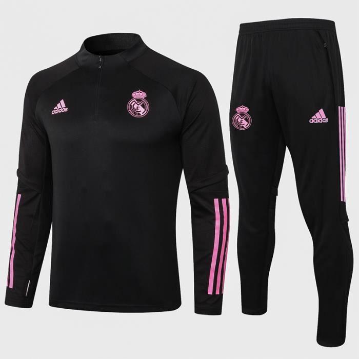 Survêtements Real Madrid 2021 Adidas Maillot Homme Enfants Maillot de Football Nouveau - Noir