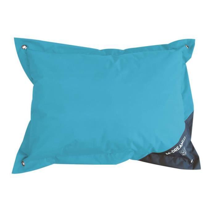 MPETS Coussin d'extérieur Natuna 120 cm - Taille L - Turquoise et gris - Pour chien