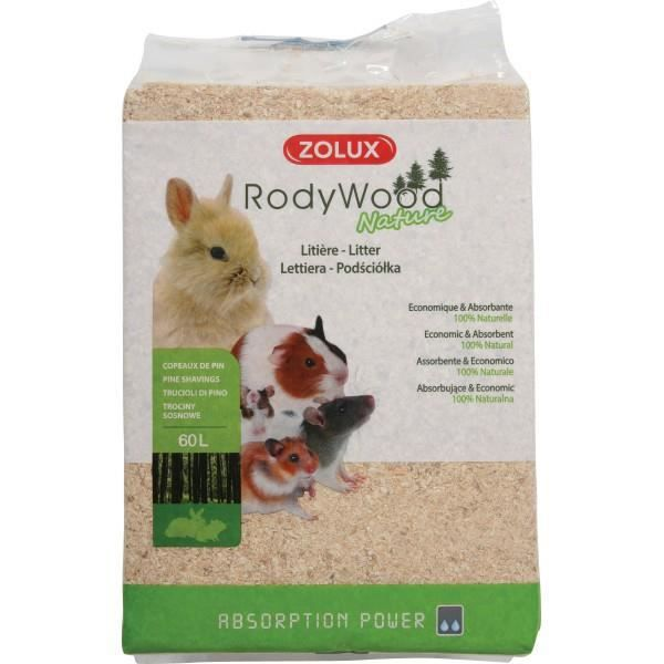Litière Rody Wood Nature 60 Litres - Zolux