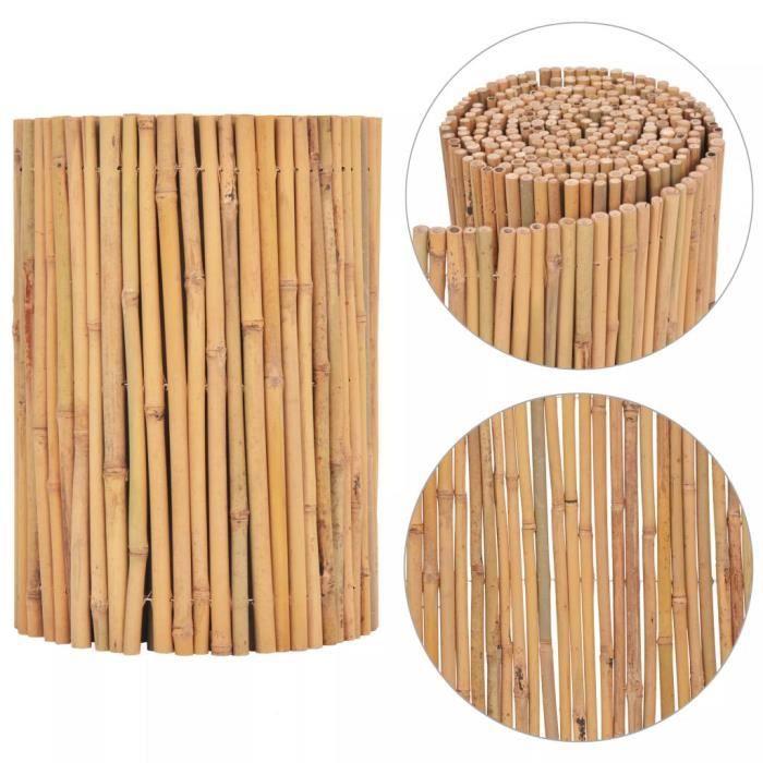 Clôture de jardin Bambou 500 x 30 cm