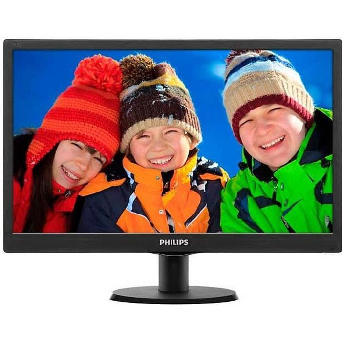 PHILIPS 193V5LSB2/10 - Ecran V-line 18,5- HD - Dalle - 5 ms - VGA