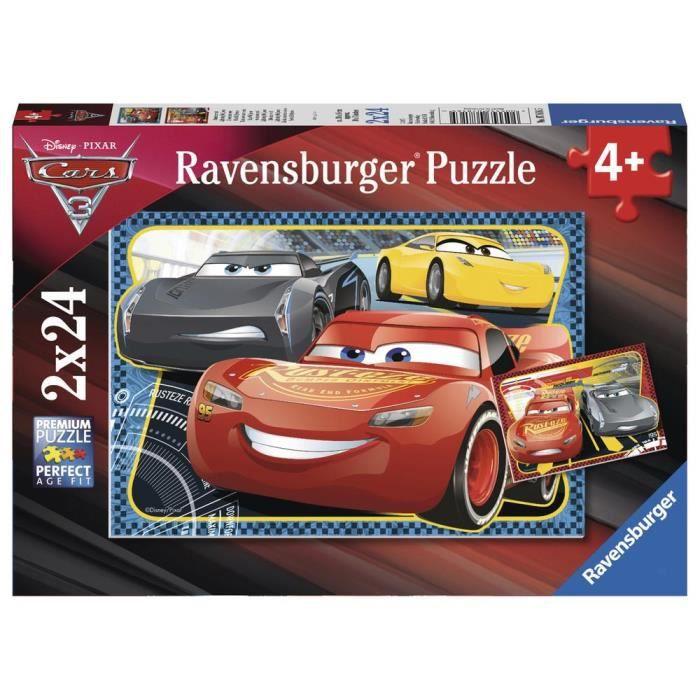 CARS Puzzle 2x24 pcs A l'Aventure avec Flash McQueen - Disney