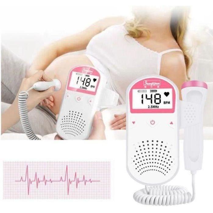 RS09663-Détecteur Bébé Échographie Doppler Fœtal Rythme Cardiaque écoute Bébé Moniteur De Fréquence Cardiaque