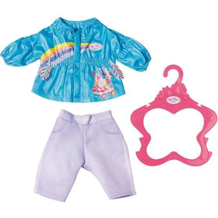 Accessoire pour poupée Zapf Creation 828212-B Baby Born Vêtement de poupée 43 cm Costume de Loisirs turquoise