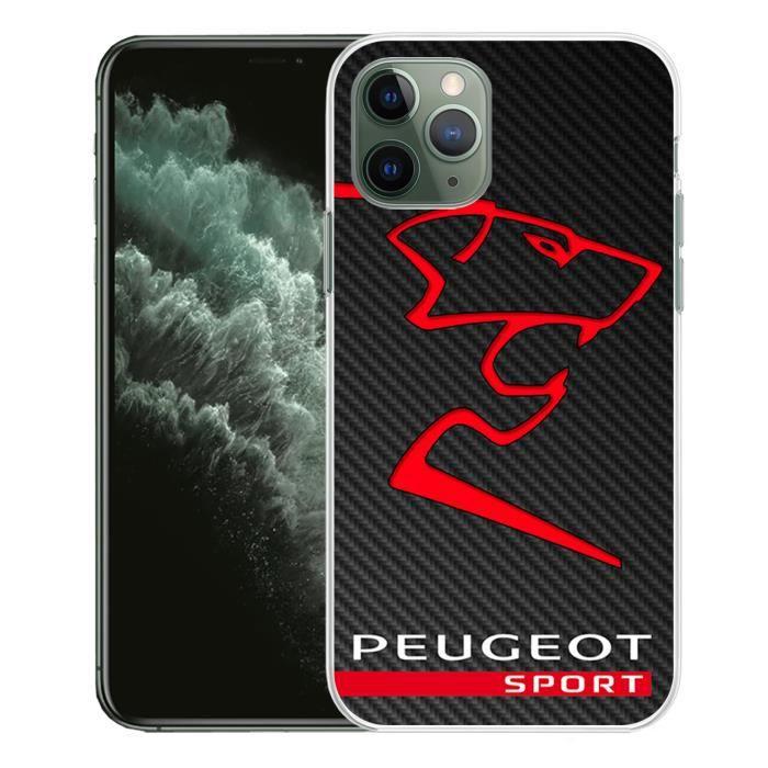 coque pour iphone 11 pro peugeot sport logo