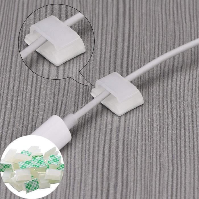 100/pcs r/éutilisables Fermeture Attaches de c/âble Sangle r/églable Wire Management