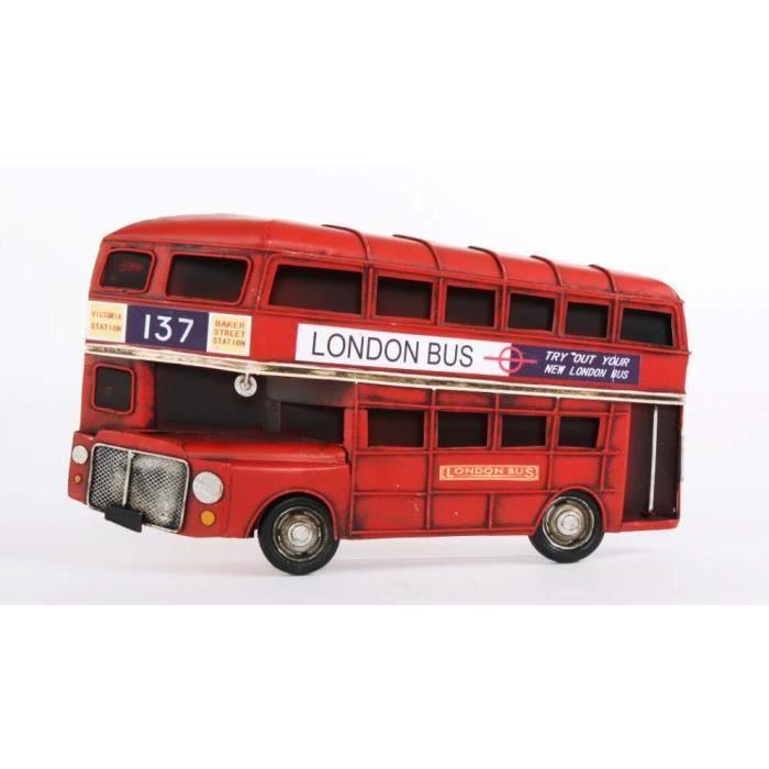 10 en bois double decker bus des formes modèle 3 mm MDF Craft blanc