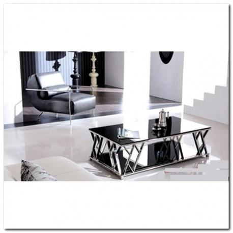 Table basse luxe design crystaux noirs verre tremp achat vente table bas - Table basse luxe design ...