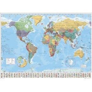 affiche world map carte du monde achat vente affiche cdiscount. Black Bedroom Furniture Sets. Home Design Ideas