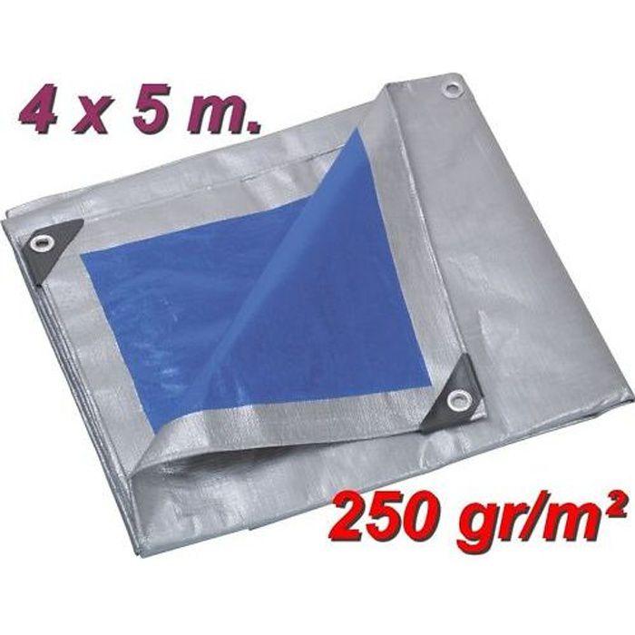 Bâche 5x8m PE 65 g//m² Verte