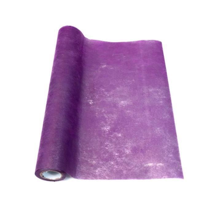 Chemin De Table Intisse Violet Achat Vente Pas Cher