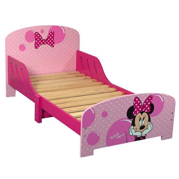 minnie lit enfant 140 70 cm avec lattes achat vente structure de lit cdiscount. Black Bedroom Furniture Sets. Home Design Ideas