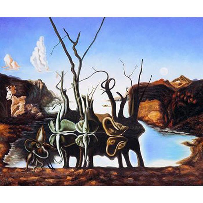 Impression Salvador Dali. Reflet des éléphants - Achat / Vente ...