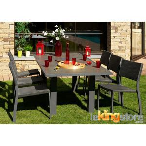 table de jardin avec rallonge achat vente table de. Black Bedroom Furniture Sets. Home Design Ideas
