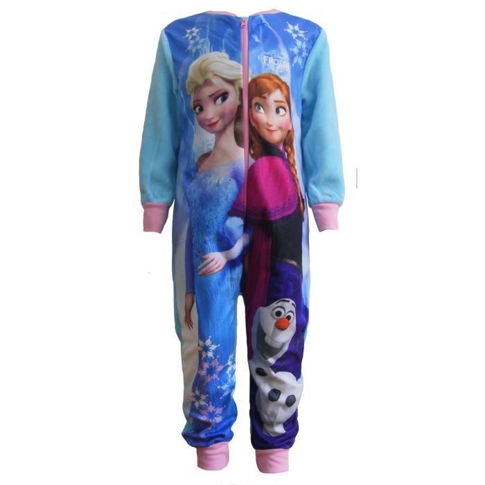 grenouill re polaire enfant fille pyjama motif reine des neiges bleu achat vente pyjama. Black Bedroom Furniture Sets. Home Design Ideas