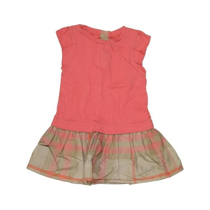 Robe Bebe Fille Burberry 12 Mois Rose Ete 785601 207233027 Marron Achat Vente Robe Bientot Le Black Friday Cdiscount