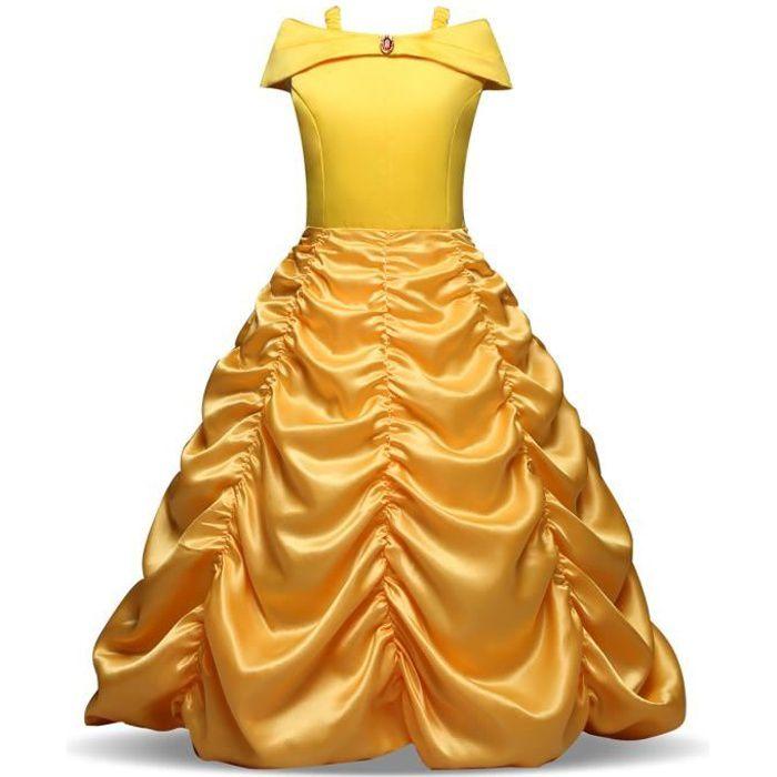Deguisement Robe Princesse Pour Belle Robes 3 10 Ans Fille Cosplay Costume En Halloween Noel Anniversaire Partie Carnaval Mariage Achat Vente Deguisement Panoplie Cdiscount