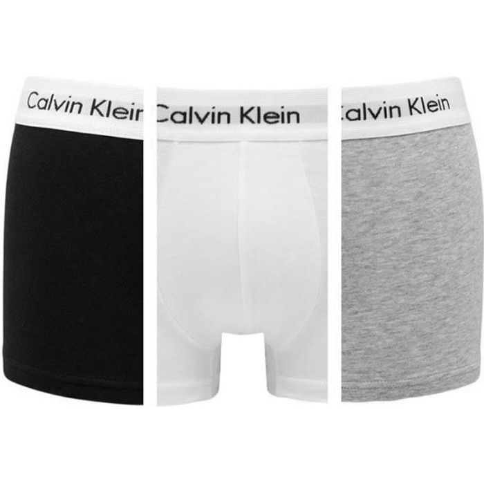 BOXER - SHORTY CALVIN KLEIN Pack de 3 Boxers Noir/Blanc/Gris Homm