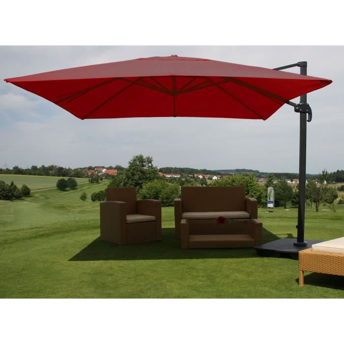 parasol bordeaux achat vente parasol bordeaux pas cher cdiscount. Black Bedroom Furniture Sets. Home Design Ideas