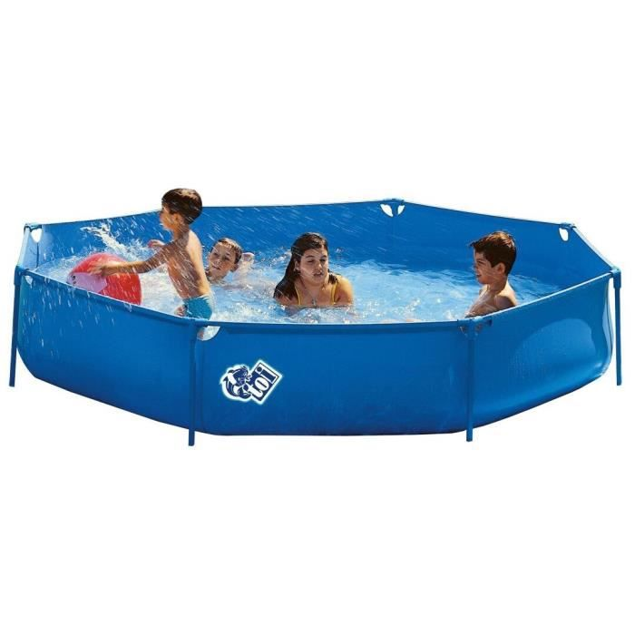 Basic piscine tubulaire 250x50 achat vente piscine for Piscine tubulaire octogonale