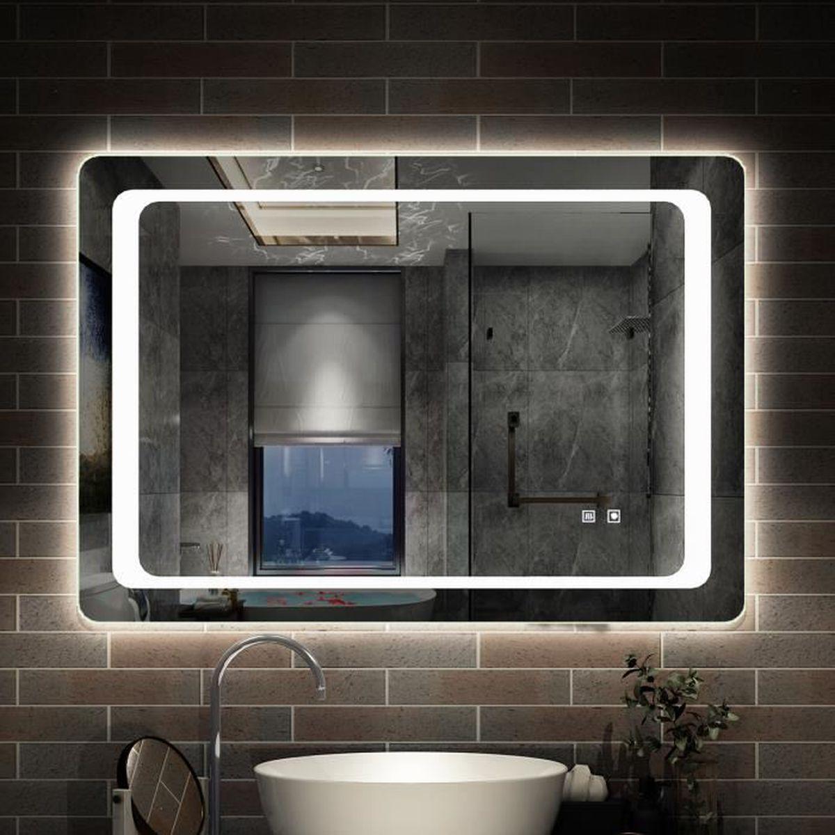 Miroir de salle de bain anti-buée 20x20cm miroir de salle de bain