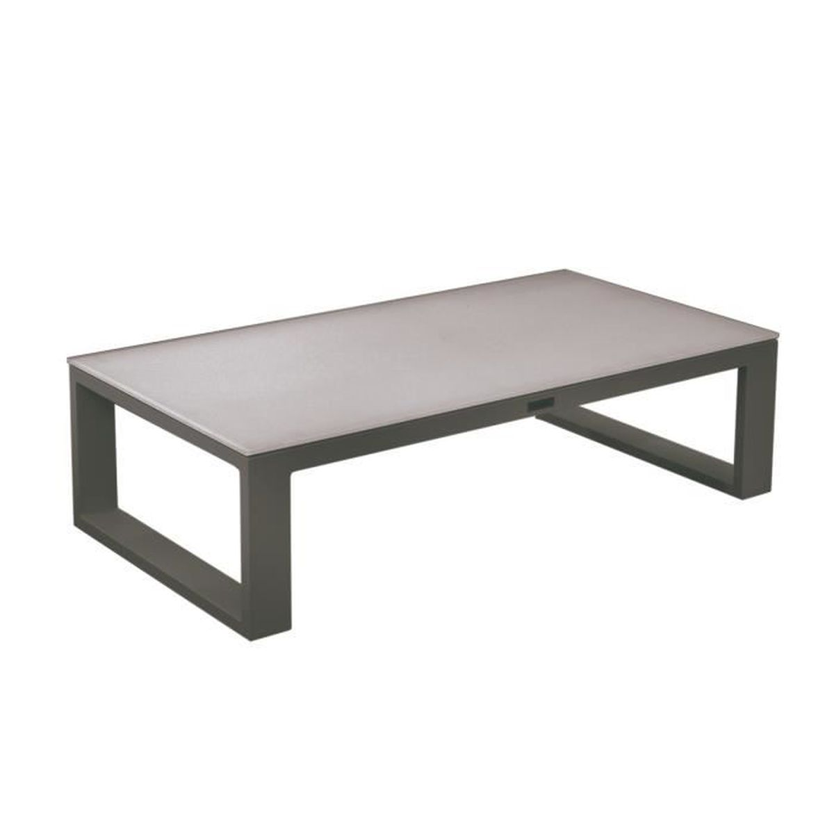 table basse en aluminium design jardin terrasse belluno tresi moka achat vente table basse. Black Bedroom Furniture Sets. Home Design Ideas
