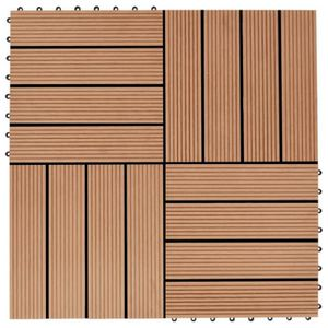 REVETEMENT EN PLANCHE WON Dalles terrasse 11 pcs composite WPC 30 x 30 c