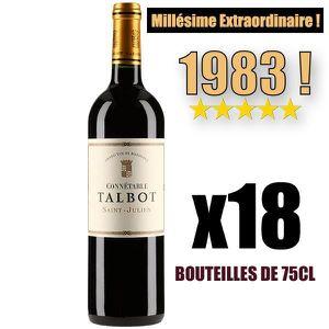 VIN ROUGE X18 Connétable Talbot 1983 75 cl AOC Saint-Julien