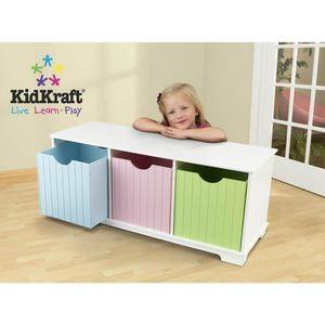 PETIT RANGEMENT  Banc pour chambre d'enfant en bois avec casier de